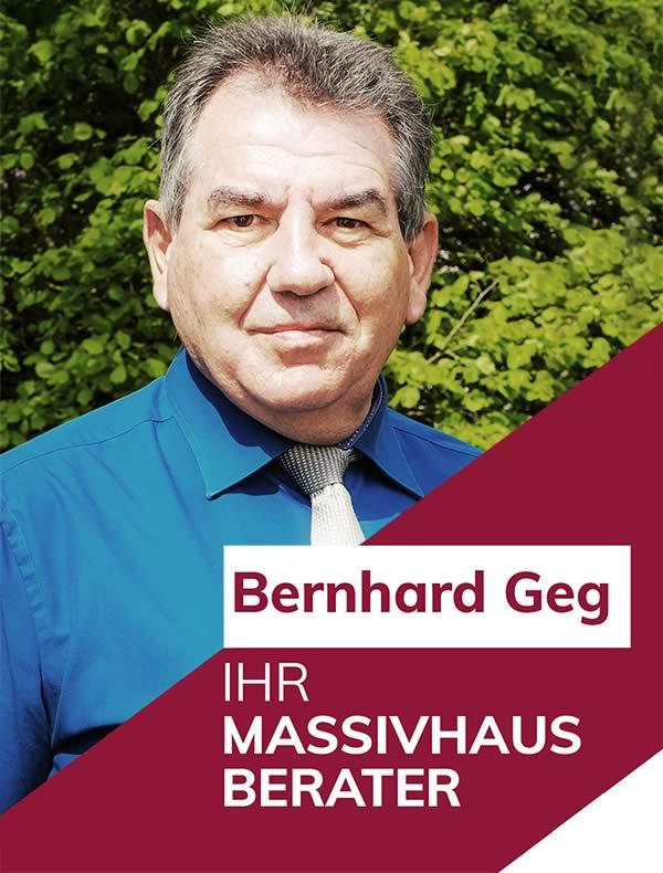 Ihr Massivhausberater Bernhard Geg
